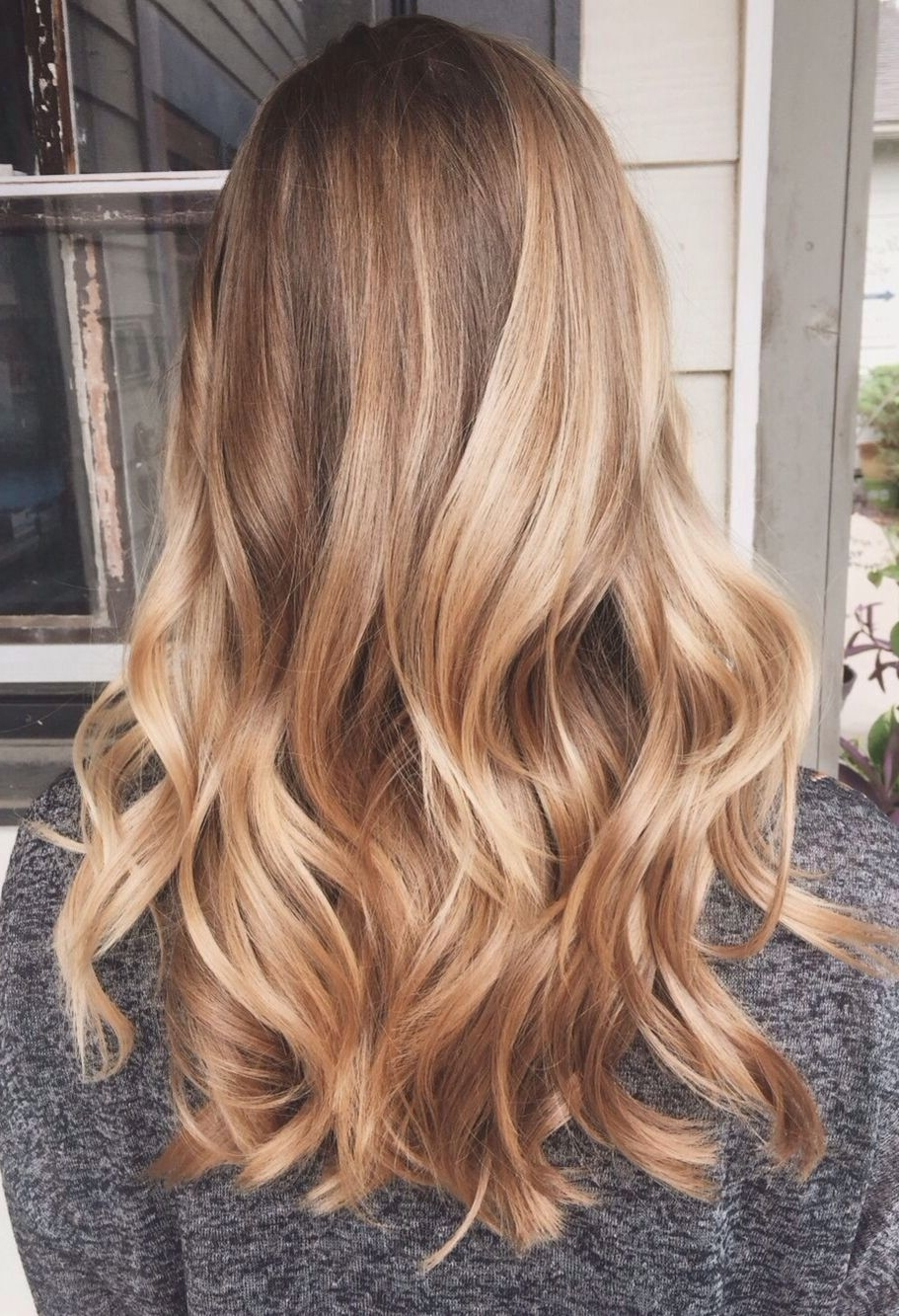 Famous Warm Blonde Curls Blonde Hairstyles Within Highlights Wavy Hair #gorgeoushair (View 10 of 20)