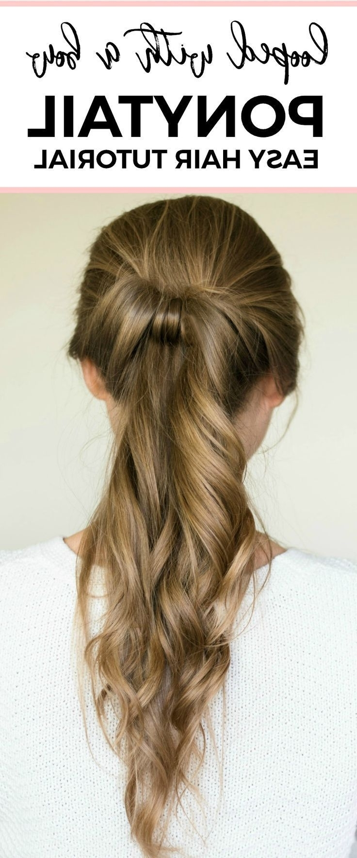 Featured Photo of Loose And Looped Ponytail Hairstyles