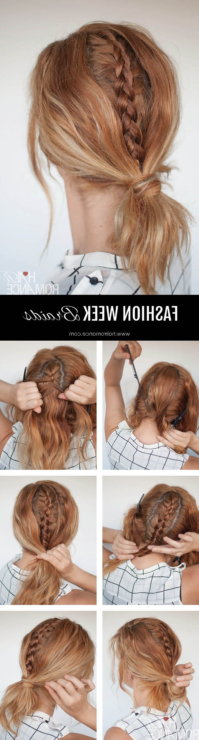 Fashion Week Braids – The Hidden Braid Tutorial You Have To Try In Well Known Hidden Braid Hairstyles (View 8 of 20)