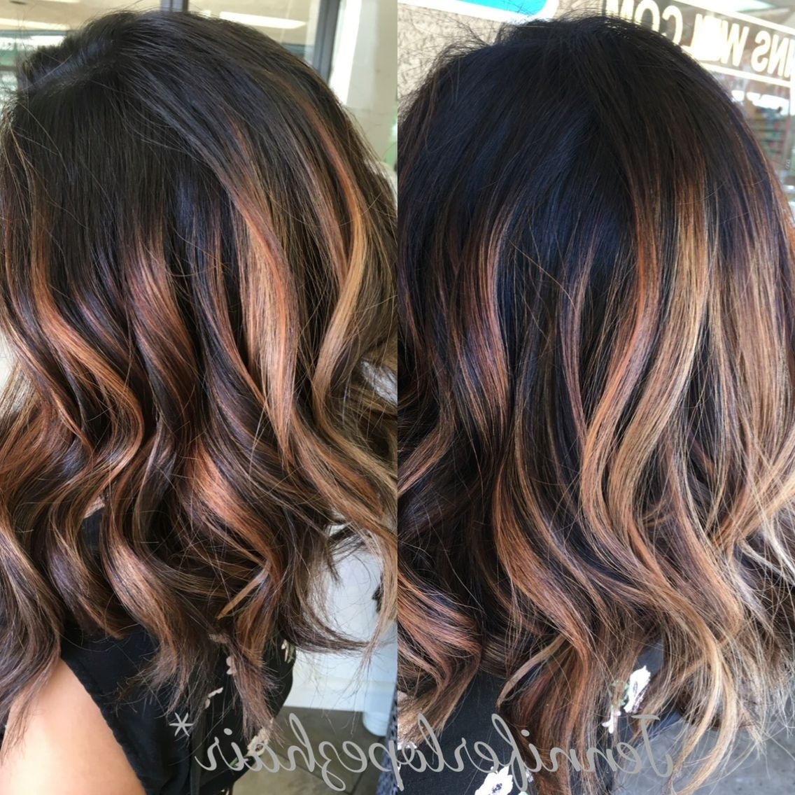 Fashionable Beige Balayage For Light Brown Hair With Regard To Dark Brown With Beige Blonde Balayage Amazing Dimensions! Hair (View 5 of 20)