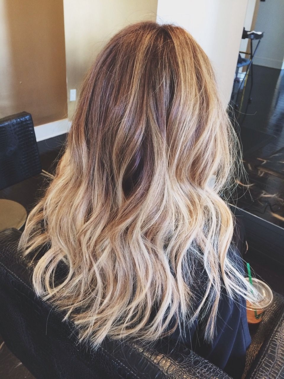 Fashionable Blonde Ombre Waves Hairstyles Regarding My Blonde/light Brown Ombré Hair With Beach Waves (View 8 of 20)