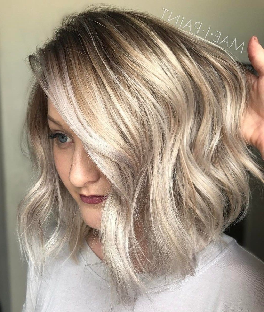 Fashionable Bronde Bob With Highlighted Bangs Regarding 40 Styles With Medium Blonde Hair For Major Inspiration (View 6 of 20)