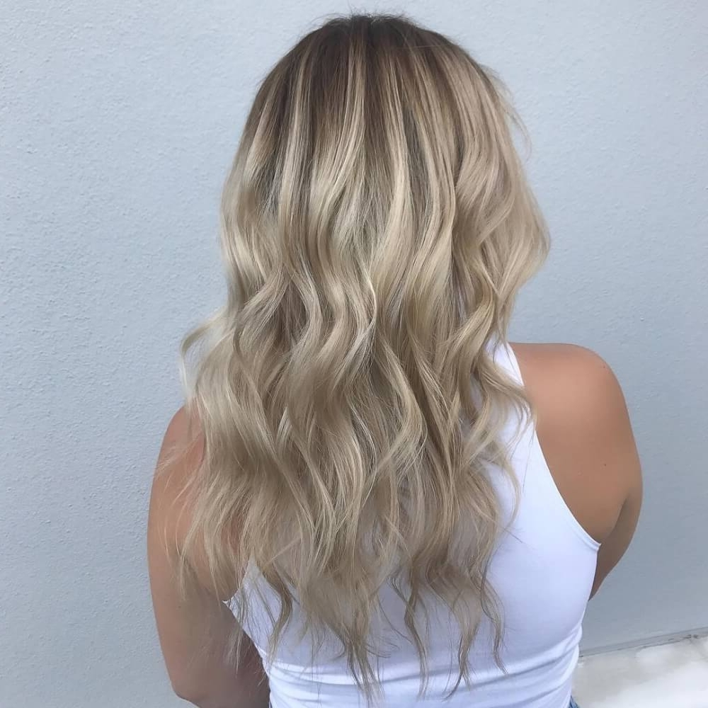 Fashionable Brunette Hairstyles With Dirty Blonde Ends Within 38 Top Blonde Highlights Of 2018 – Platinum, Ash, Dirty, Honey & Dark (View 4 of 20)