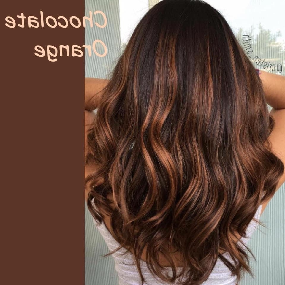 Fashionable Chocolatey Pony Hairstyles With Wavy Edges Within Chocolate Orange (View 6 of 20)