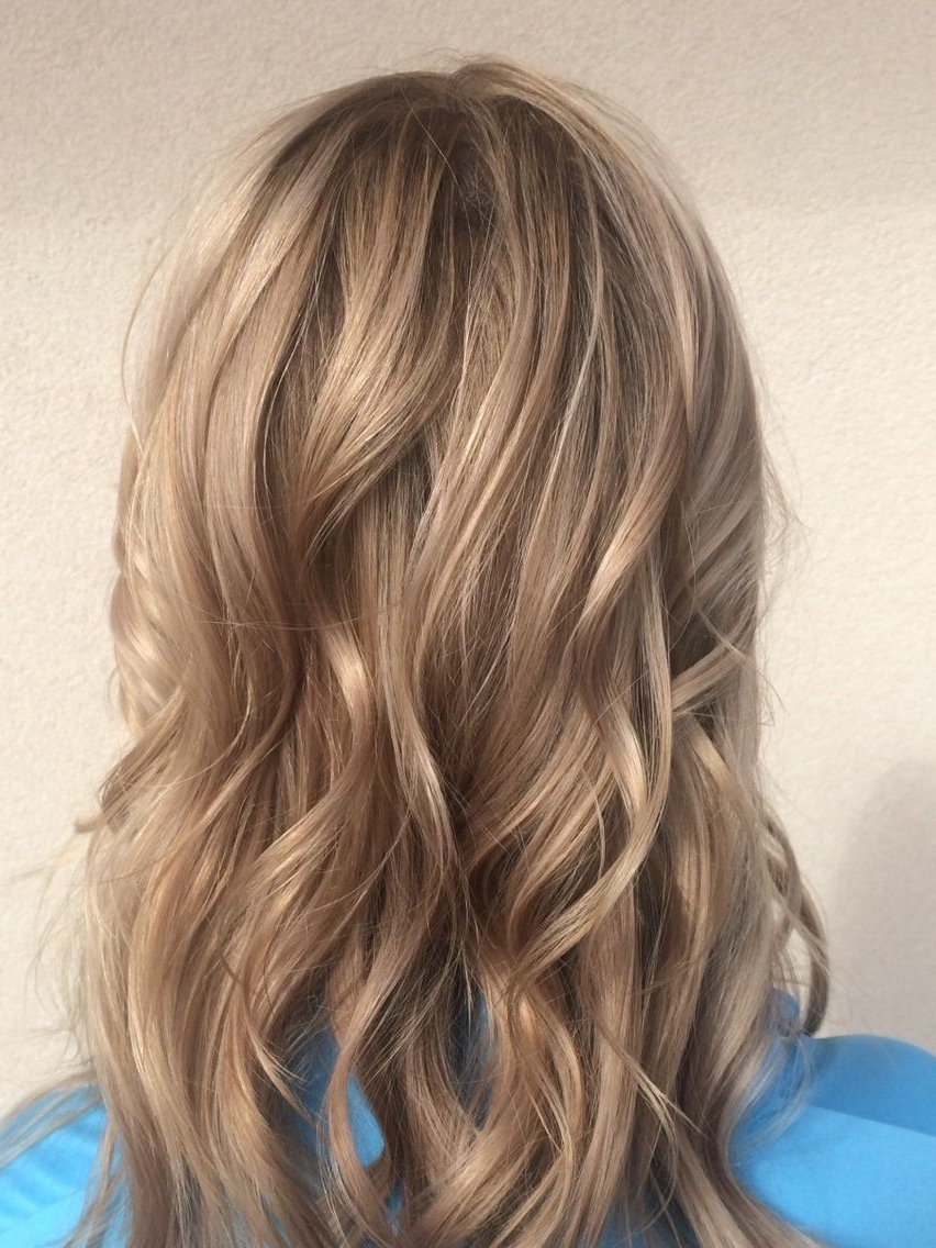 Fashionable Creamy Blonde Waves With Bangs Intended For Soft, Creamy Blondes And Beachy Waves Just In Time For The Warmer (View 11 of 20)