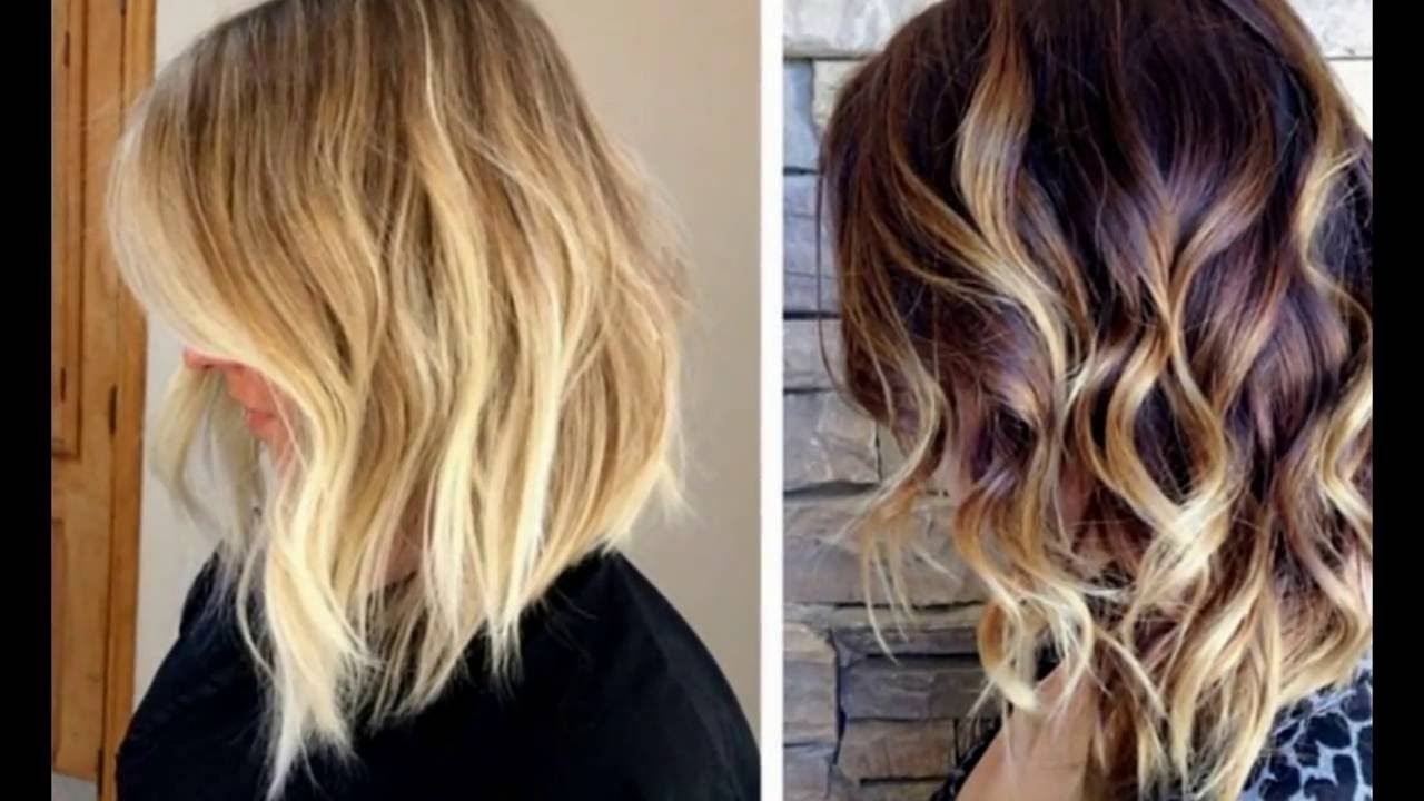 Fashionable Curly Caramel Blonde Bob Hairstyles For Balyage Highlights For A Long Bob Hairstyles – Youtube (View 13 of 20)