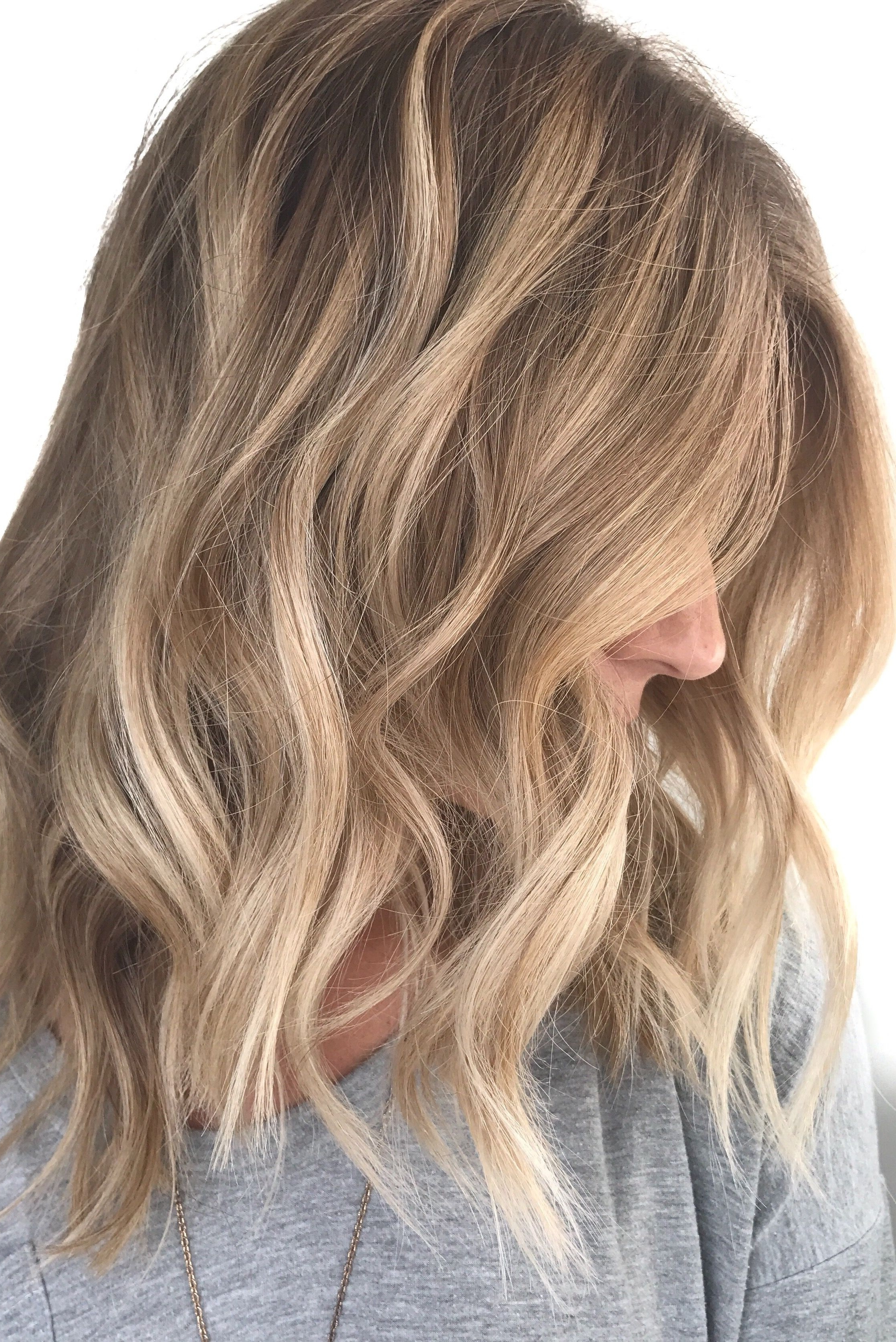 Fashionable Dishwater Waves Blonde Hairstyles For Blonde Balayage ; Natural Blonde Highlights ; Loose Waves ; Neutral (View 4 of 20)
