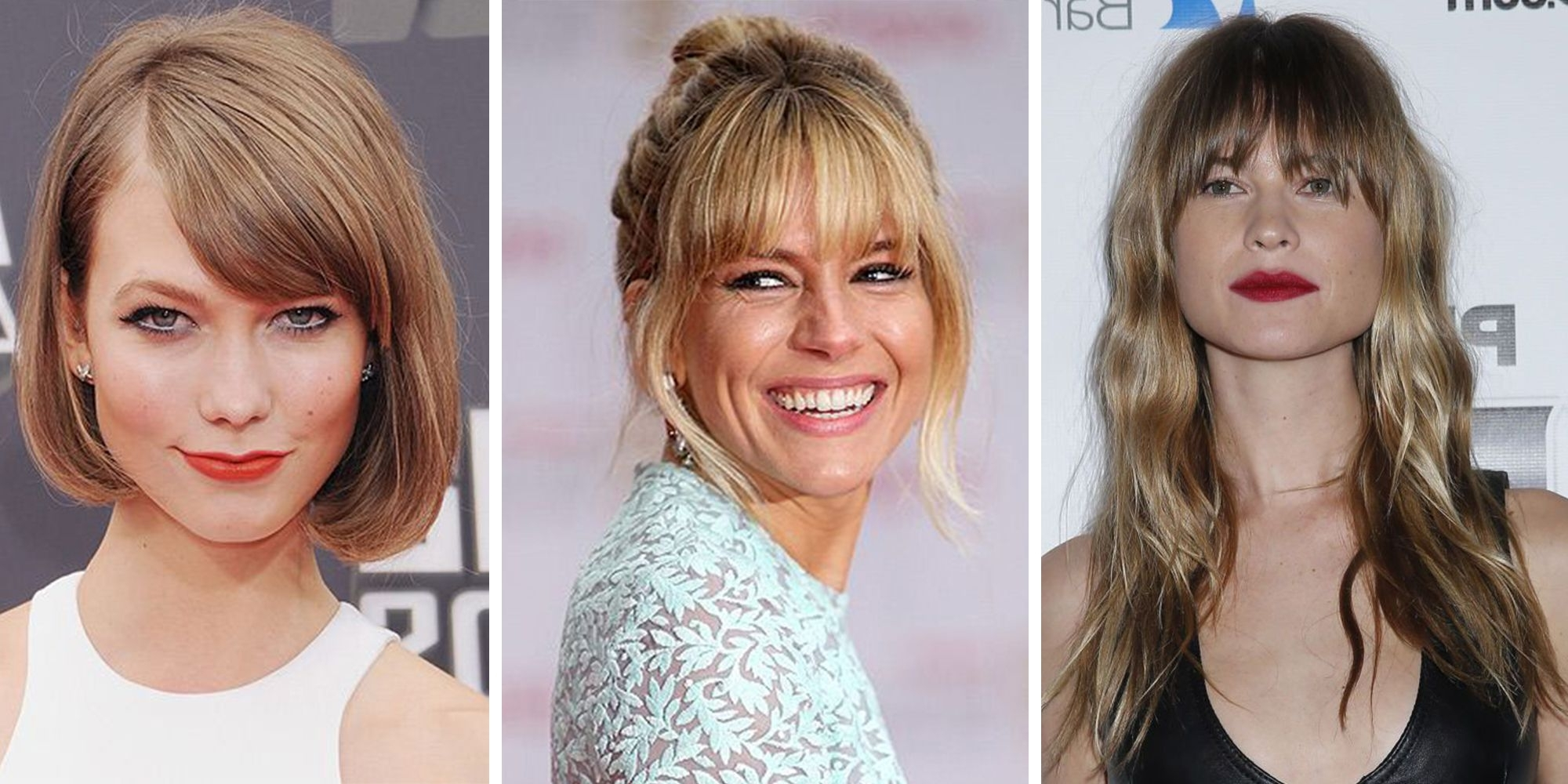 Fashionable High Pony Hairstyles With Contrasting Bangs With 39 Fringe Hair Cuts For 2018 – Women's Hairstyle Inspiration (View 14 of 20)