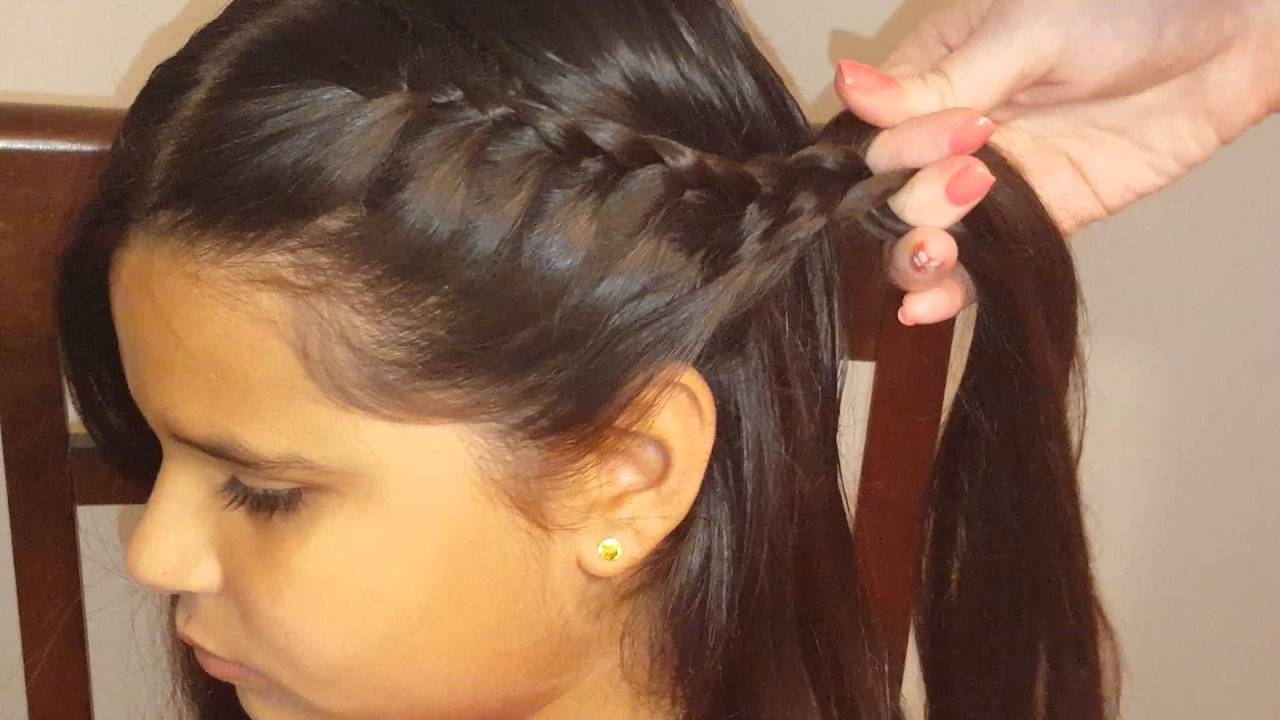 Fashionable Messy Pony Hairstyles With Lace Braid With Lace Braids Into Ponytail (View 6 of 20)