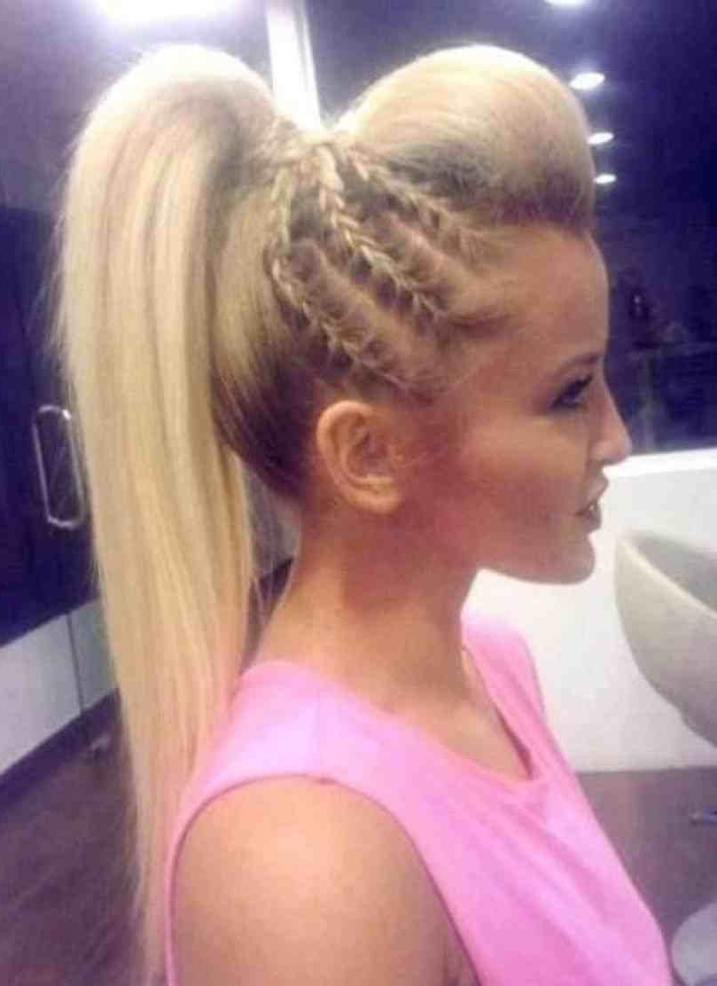 Fashionable Ponytail Hairstyles With Bump Pertaining To High Ponytail Hairstyles Bump Easy Ponytails Hairstyles Bump Wedding (View 6 of 20)
