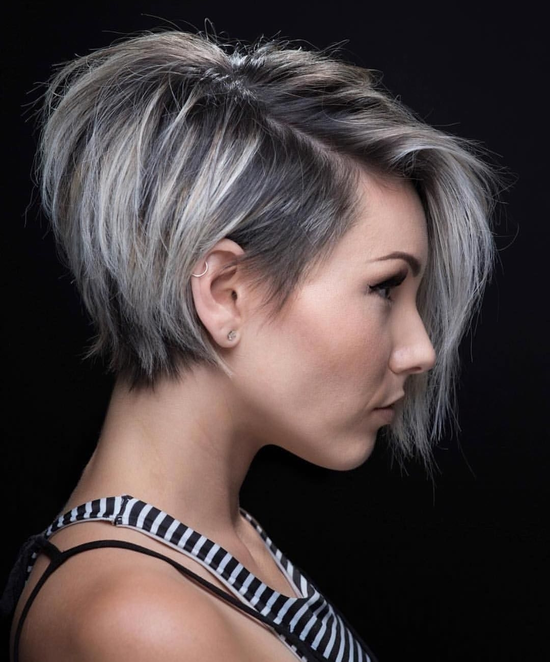 Fashionable Reverse Gray Ombre Pixie Hairstyles For Short Hair Regarding Whoa. This One Might Be A Game Changer (View 10 of 20)