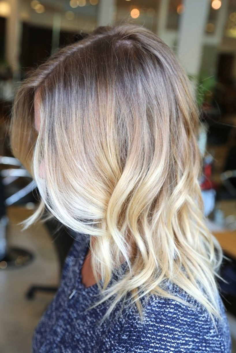 Fashionable Shoulder Length Ombre Blonde Hairstyles Regarding Medium Length Blonde Ombre Hair – Women Medium Haircut (View 7 of 20)