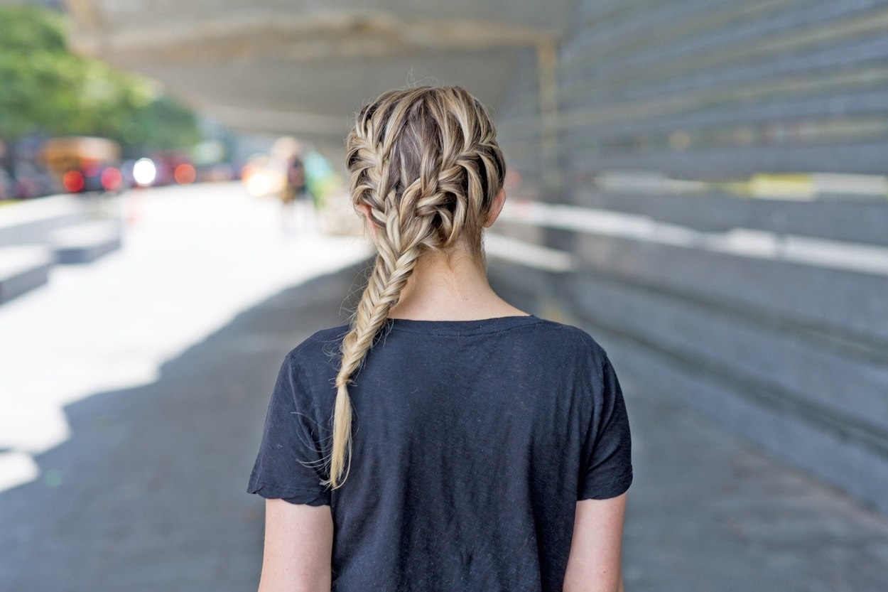 Fashionable Two Braids In One Hairstyles Intended For The Best Braided Hairstyles For Fine Hair And Curly Hair (View 7 of 20)