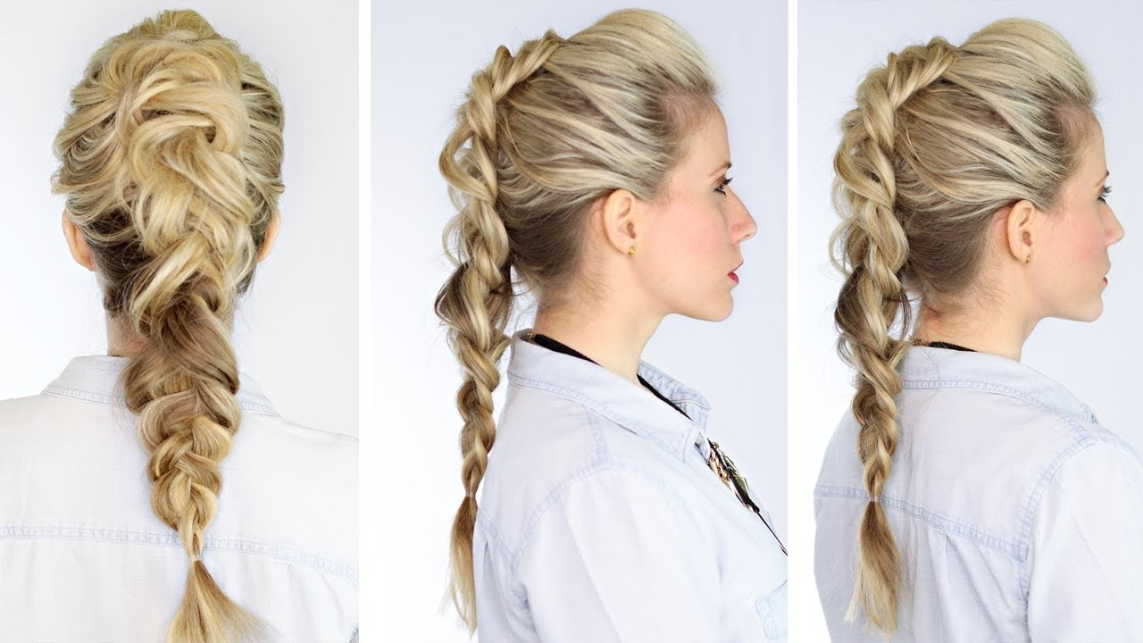 Faux Hawk Braid – Youtube With Regard To Most Current Undone Fishtail Mohawk Hairstyles (View 8 of 20)