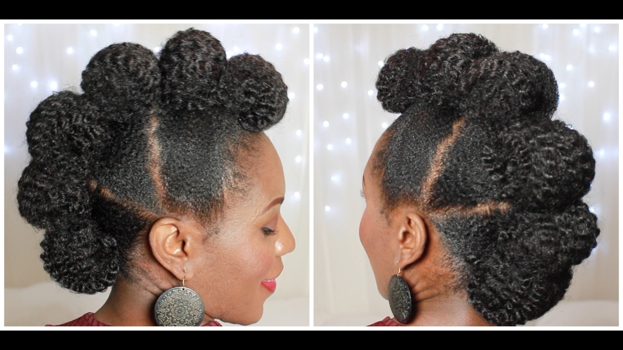 Faux Hawk Updo On 4c Natural Hair – Youtube (View 9 of 20)