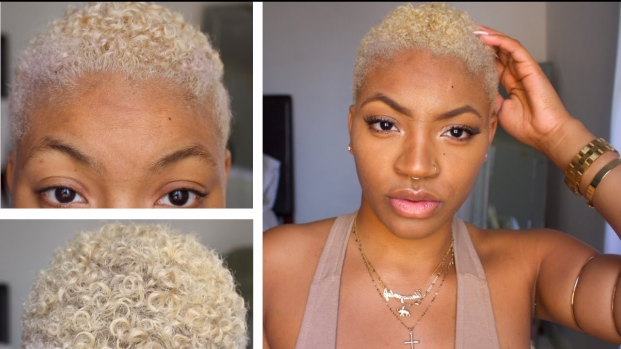 [%Favorite African American Messy Ashy Pixie Hairstyles With Regard To How To Bleach Natural Hair At Home | [Platinum Blonde / Champagne|How To Bleach Natural Hair At Home | [Platinum Blonde / Champagne Intended For Popular African American Messy Ashy Pixie Hairstyles%] (View 2 of 20)