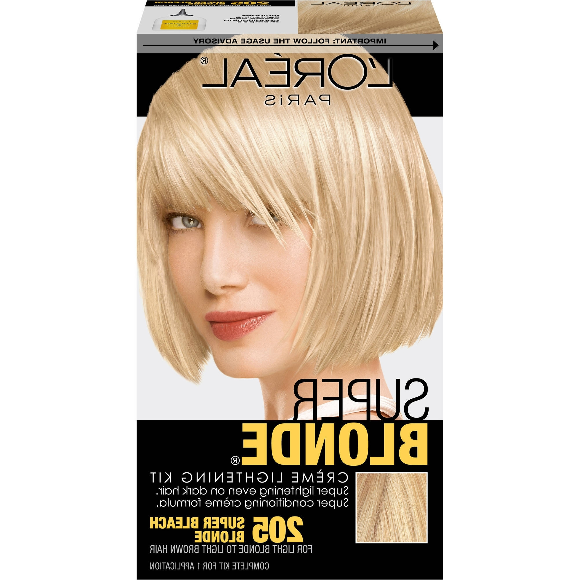 Favorite Bi Color Blonde With Bangs With L'oreal Paris Super Blonde Creme Lightening Kit, Super Bleach Blonde (View 6 of 20)