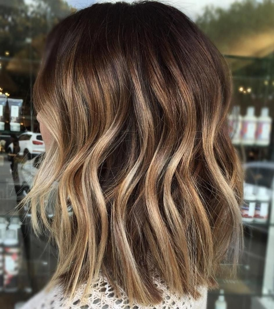 Favorite Brown Blonde Balayage Lob Hairstyles Inside 70 Flattering Balayage Hair Color Ideas For  (View 14 of 20)