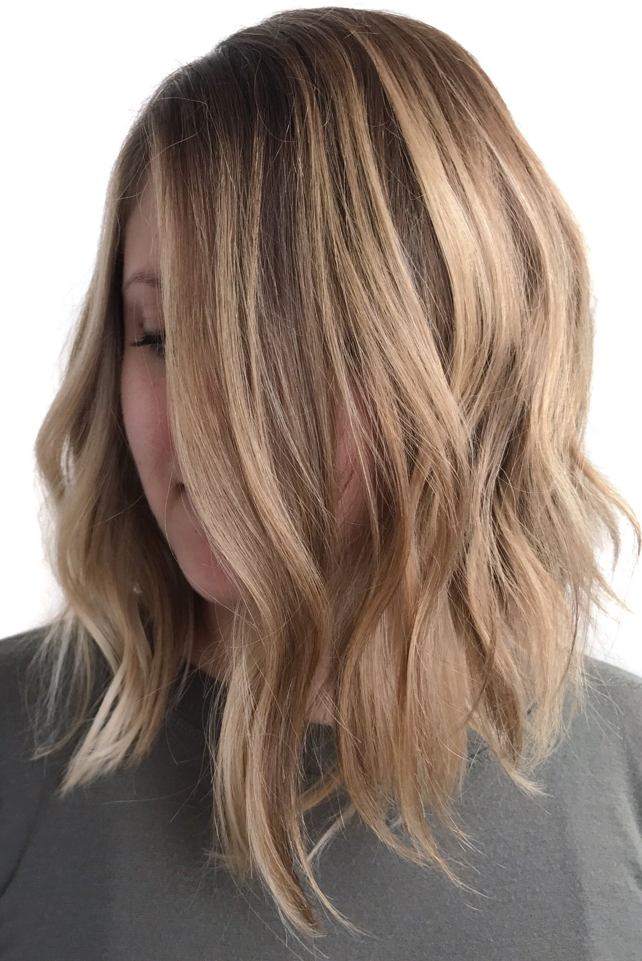 Favorite Chamomile Blonde Lob Hairstyles For Blonde Balayage ; Natural Blonde Highlights ; Long Bob ; Sandy (View 6 of 20)