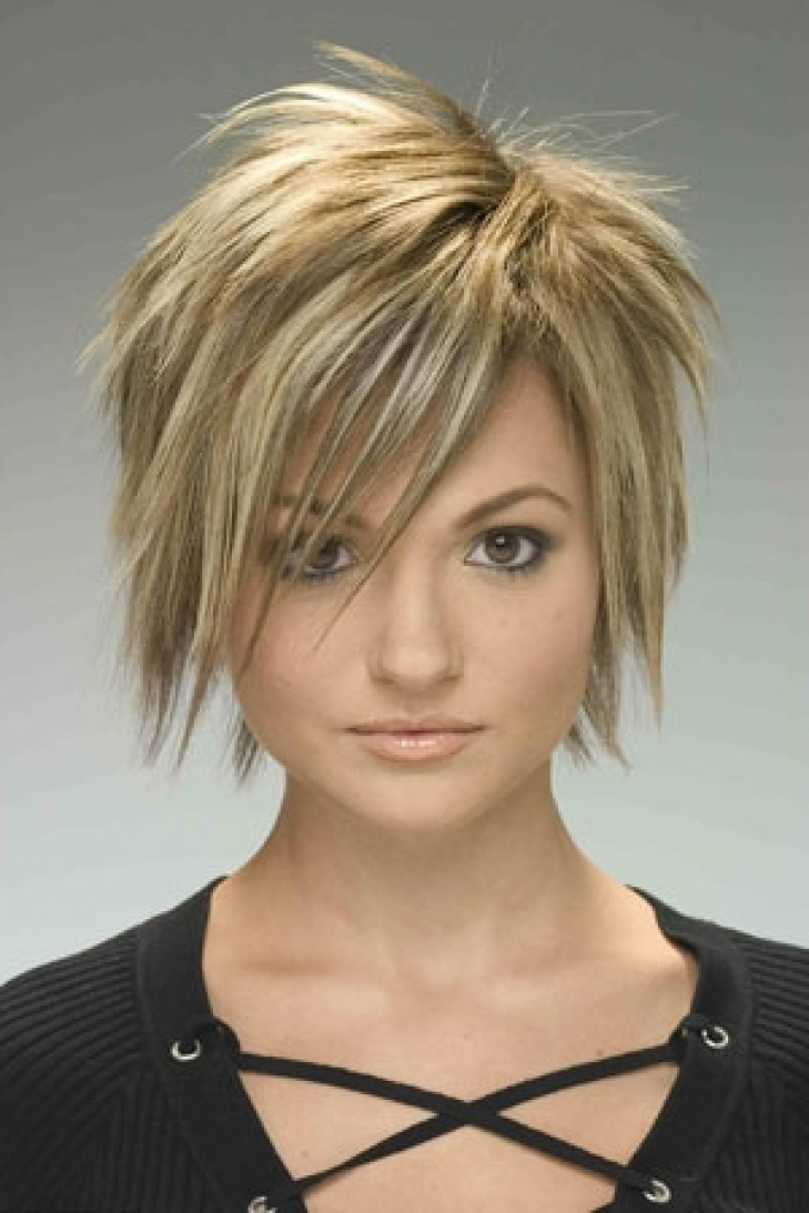 Favorite Choppy Asymmetrical Black Pixie Hairstyles Pertaining To Short Choppy Layered Haircut  (View 8 of 20)