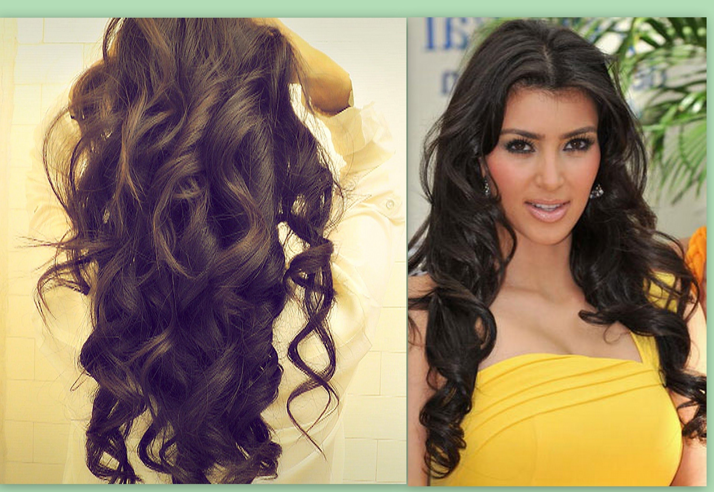 Favorite Curly Pony Hairstyles For Ultra Long Hair Throughout ☆ Kim Kardashian Hair Tutorial (View 14 of 20)