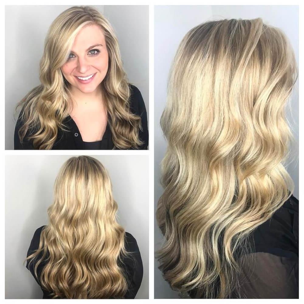 Favorite Golden Blonde Balayage Hairstyles Regarding 38 Top Blonde Highlights Of 2018 – Platinum, Ash, Dirty, Honey & Dark (View 16 of 20)