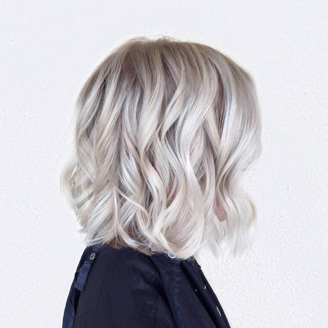 Favorite Icy Highlights And Loose Curls Blonde Hairstyles Intended For 30 Blonde Medium Hairstyles Ideas For Women (View 7 of 20)