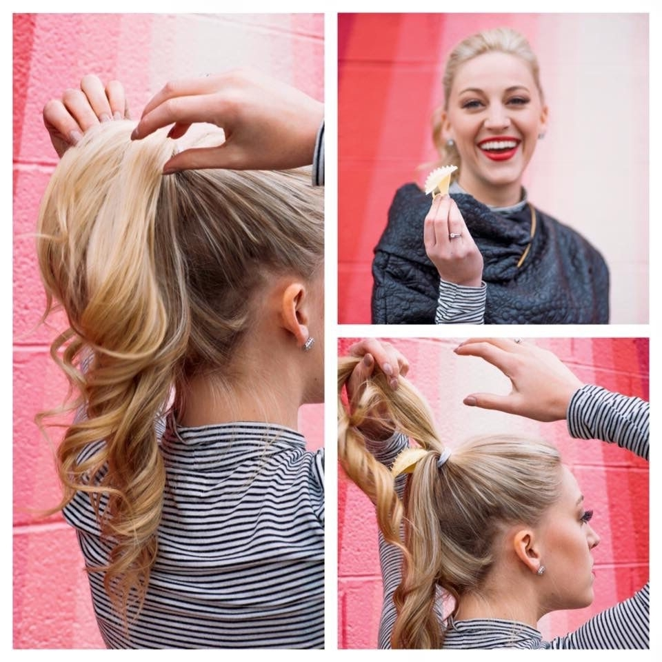 Favorite Long Blond Ponytail Hairstyles With Bump And Sparkling Clip For Full Volume Ponytails With Just A Clip! No Extensions! Just Your Own (View 13 of 20)