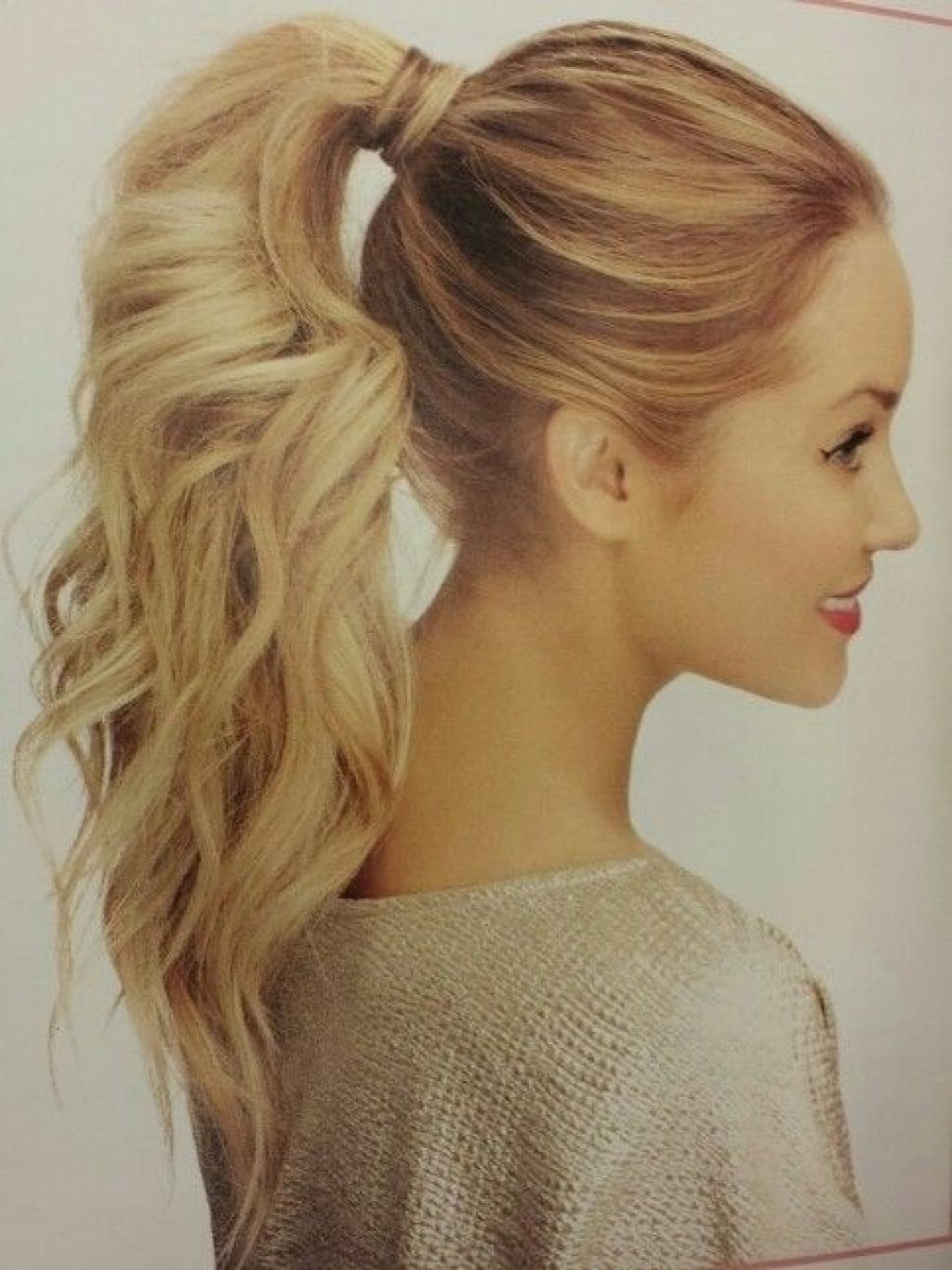 Featured Photo of Long Blond Ponytail Hairstyles With Bump And Sparkling Clip