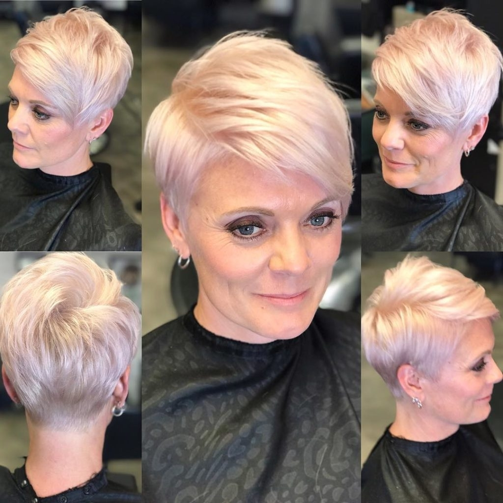 Favorite Platinum Pixie Hairstyles Pertaining To Women's Chic Platinum Polished Pixie (View 4 of 20)