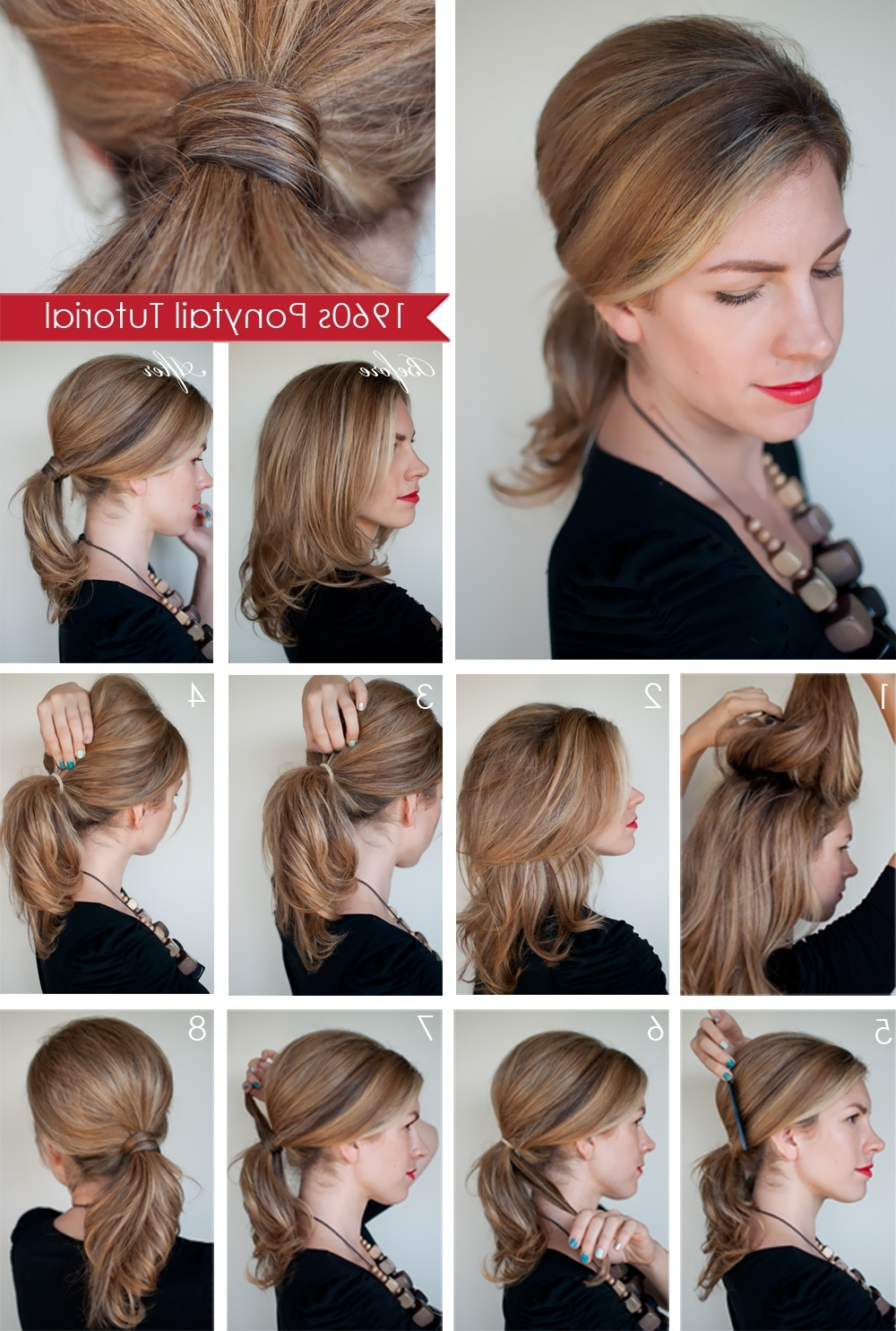 Favorite Pony Hairstyles With Wrap Around Braid For Short Hair With Regard To Hairstyle How To: Create A 1960s Style Ponytail – Hair Romance (View 3 of 20)
