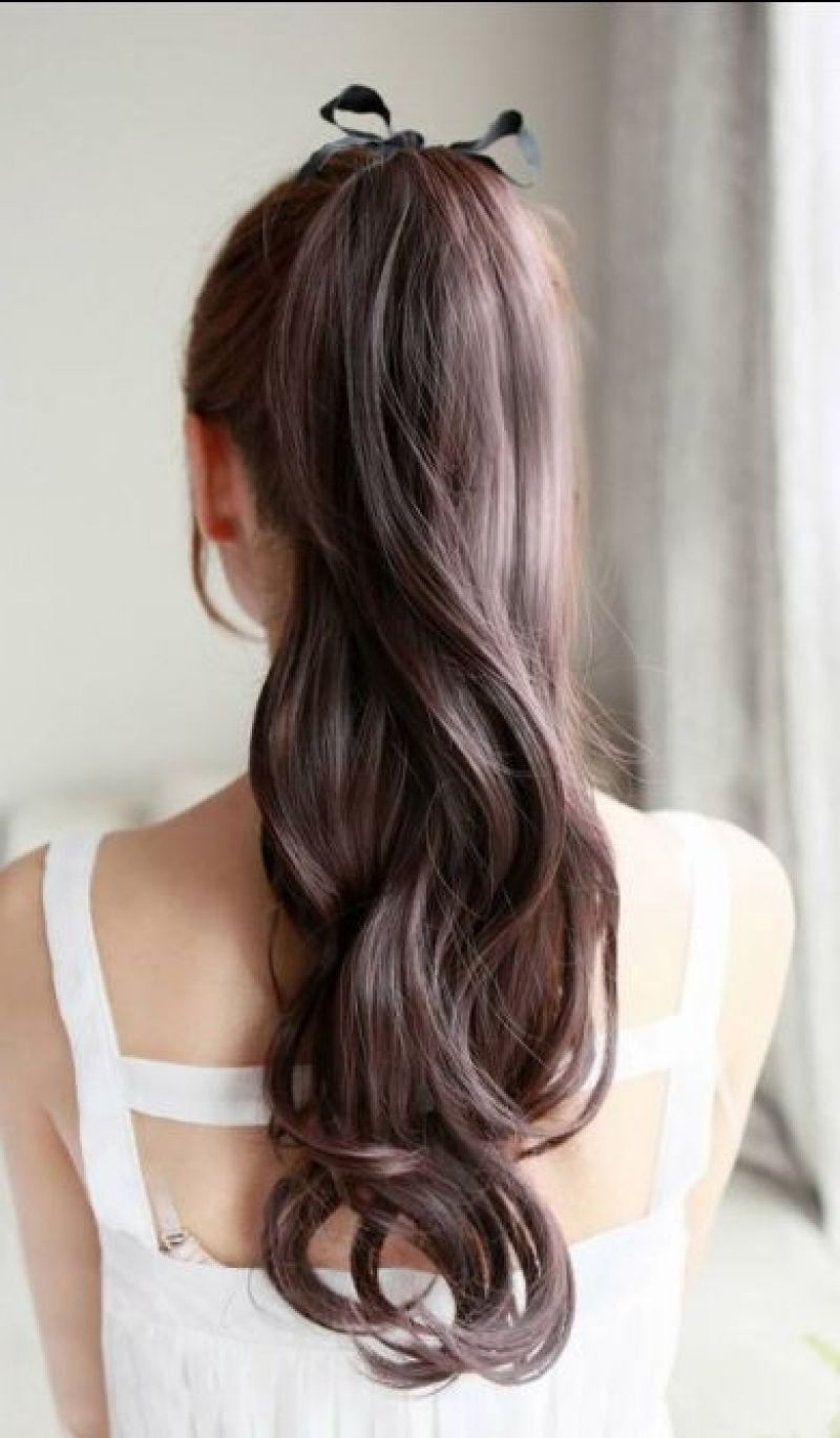 Favorite Ponytail Hairstyles For Brunettes Within 20 Gorgeous Brunette Hairstyles For Lovely Women (View 11 of 20)