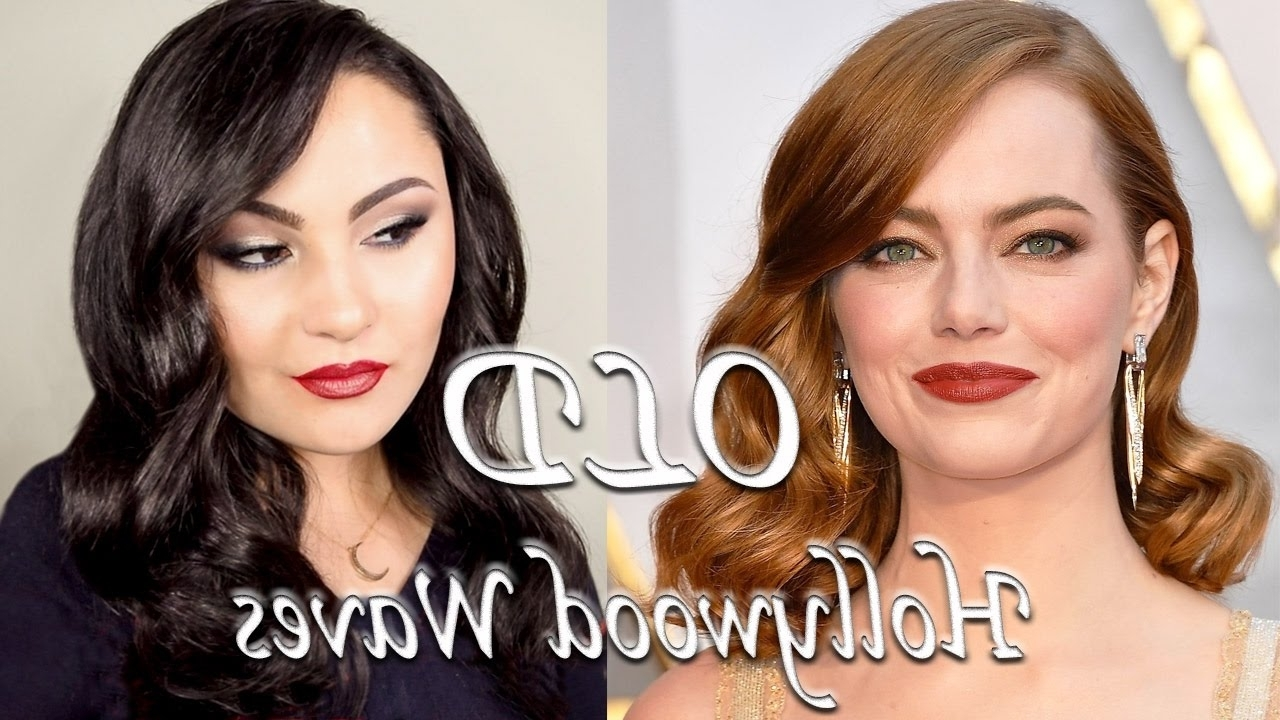 Favorite Quick Vintage Hollywood Ponytail Hairstyles Intended For Emma Stone Oscars 2017 Old Hollywood Waves Hairstyle – Youtube (View 7 of 20)