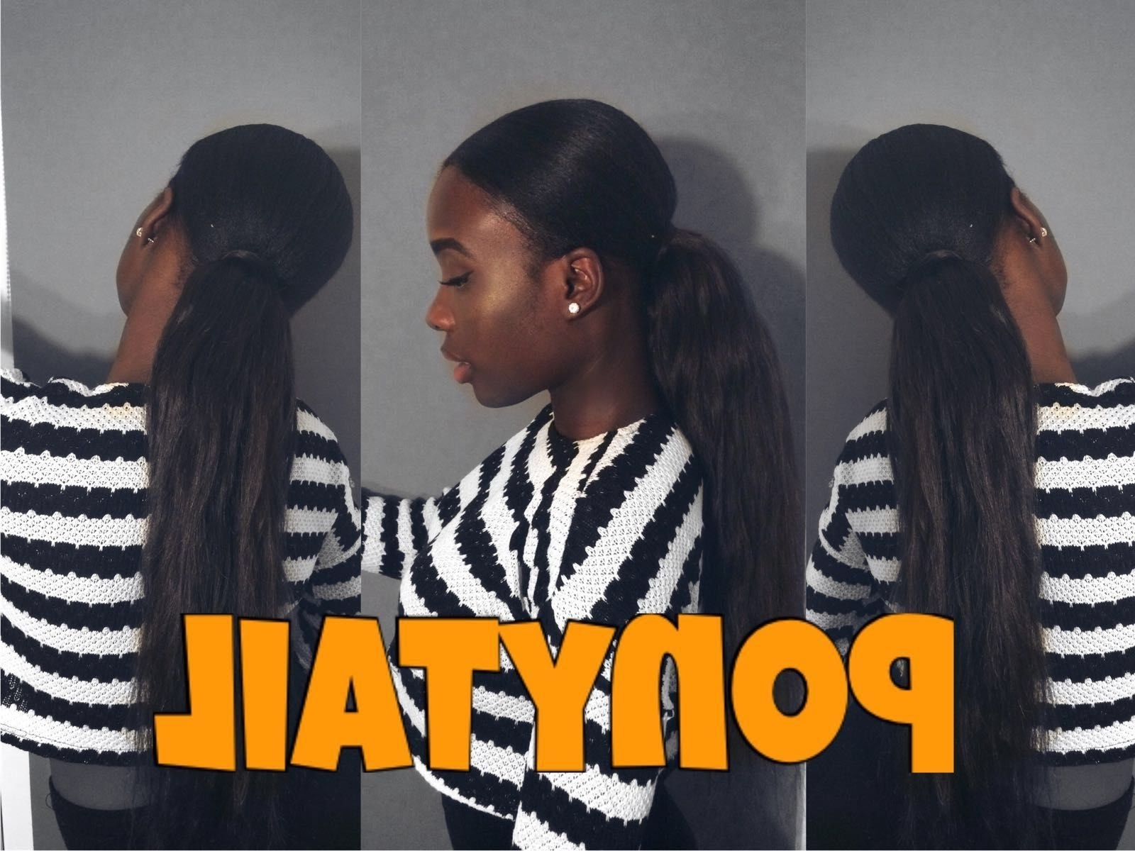 Favorite Side Pony Hairstyles With Swooping Bangs For Rihanna Inspired Side Sleep Ponytail: How To Make It In A Good Way? (View 5 of 20)