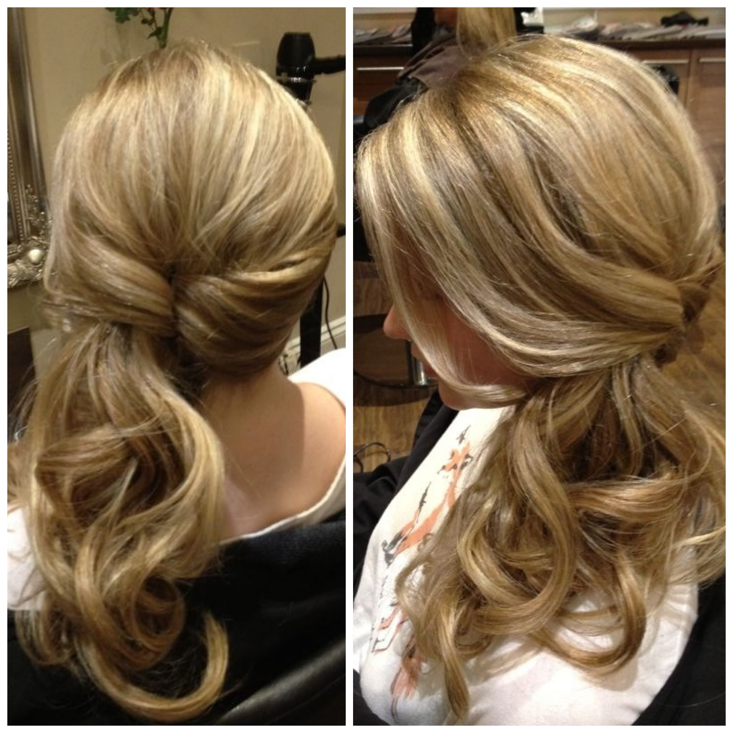 Favorite Side Swept Pony Hairstyles Throughout Curly Hair Cuts In Respect Of Sideswept Twisted Ponytail Http (View 9 of 20)
