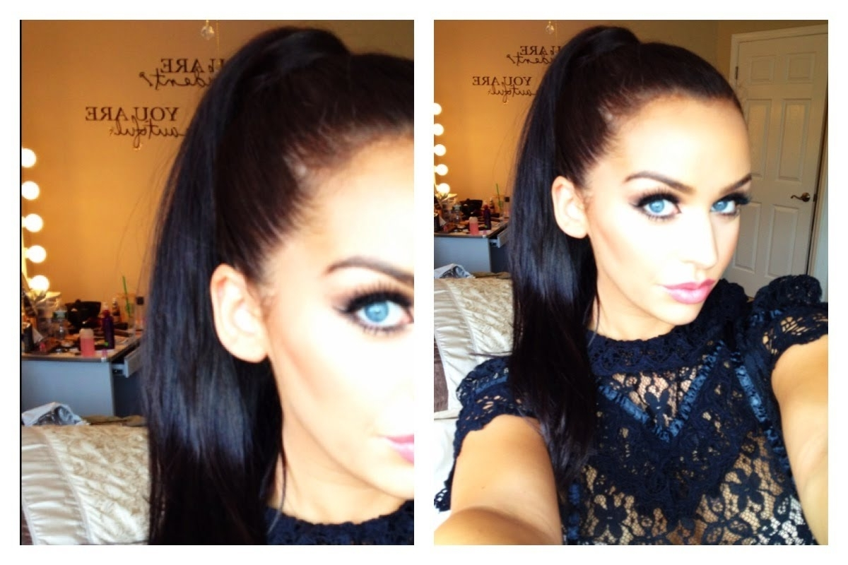 Favorite Tight And Sleek Ponytail Hairstyles Inside Sleek High Ponytail Using Extensions – Youtube (View 8 of 20)