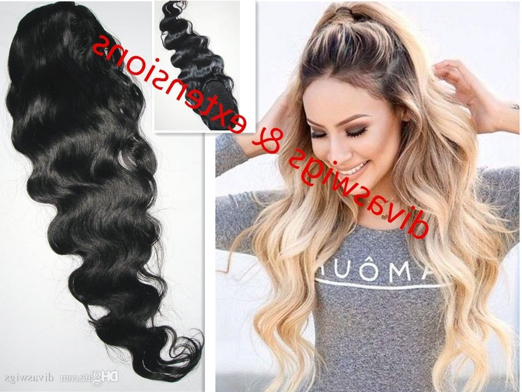 [%Favorite Wavy Ponytail Hairstyles For Long Wavy Ponytail Body Wavy 100% Human Ponytail 140G Pony Tail Clip|Long Wavy Ponytail Body Wavy 100% Human Ponytail 140G Pony Tail Clip With Most Recently Released Wavy Ponytail Hairstyles%] (View 1 of 20)