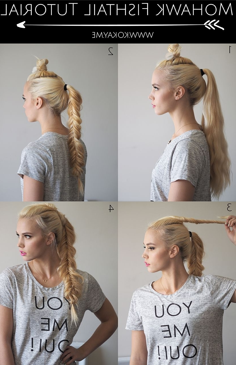 Find Your Inner Warrior With This Mohawk Fishtail Braid Tutorial Regarding Famous Undone Fishtail Mohawk Hairstyles (View 4 of 20)