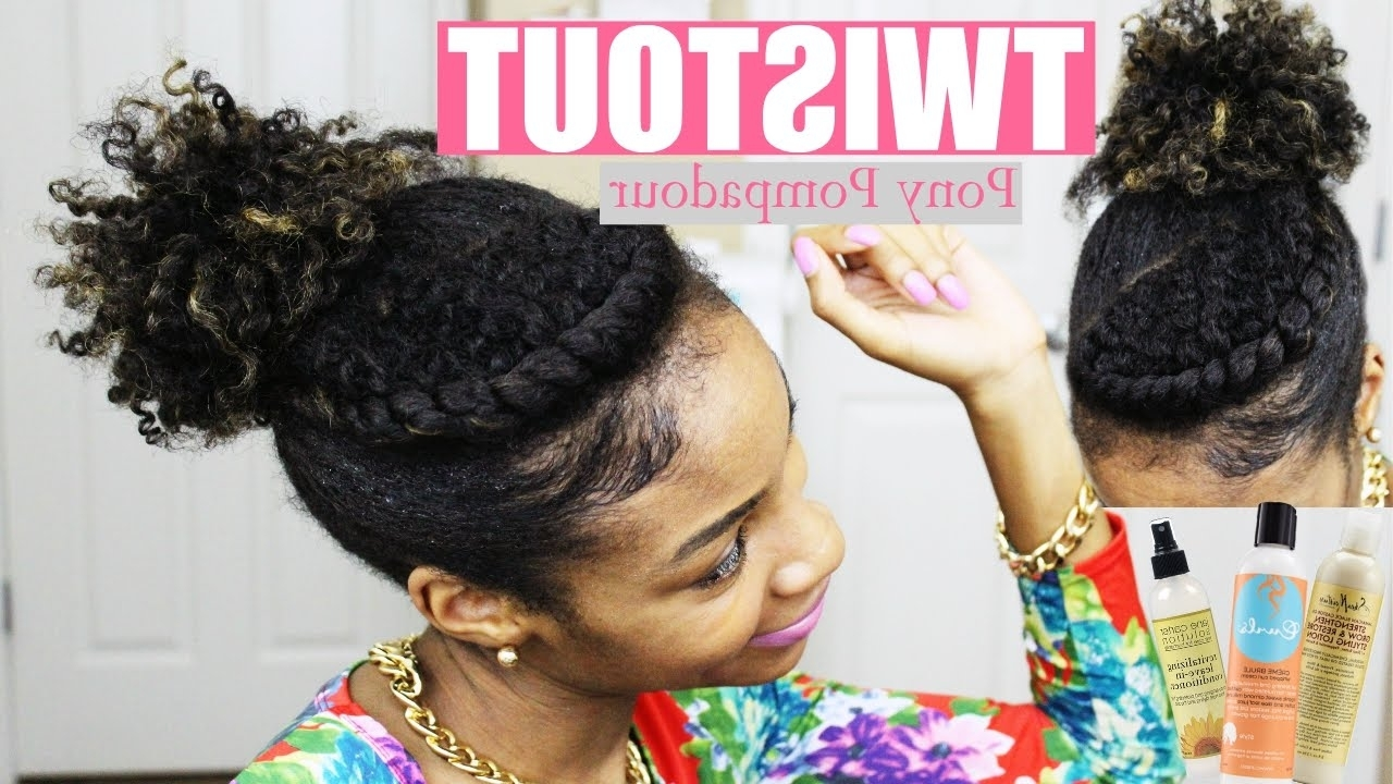 Flat Twist Pompadour – Youtube With Regard To 2017 Curly Pony Hairstyles With A Braided Pompadour (View 8 of 20)