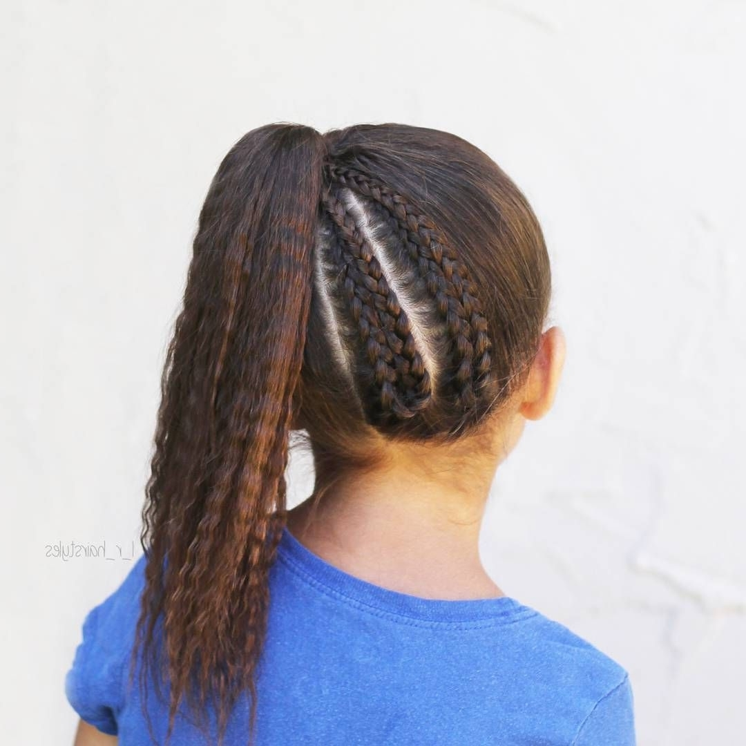 Folded Up Dutch Braids Into A High Side Ponytail Style Inspired Pertaining To Current Dutch Inspired Pony Hairstyles (View 10 of 20)