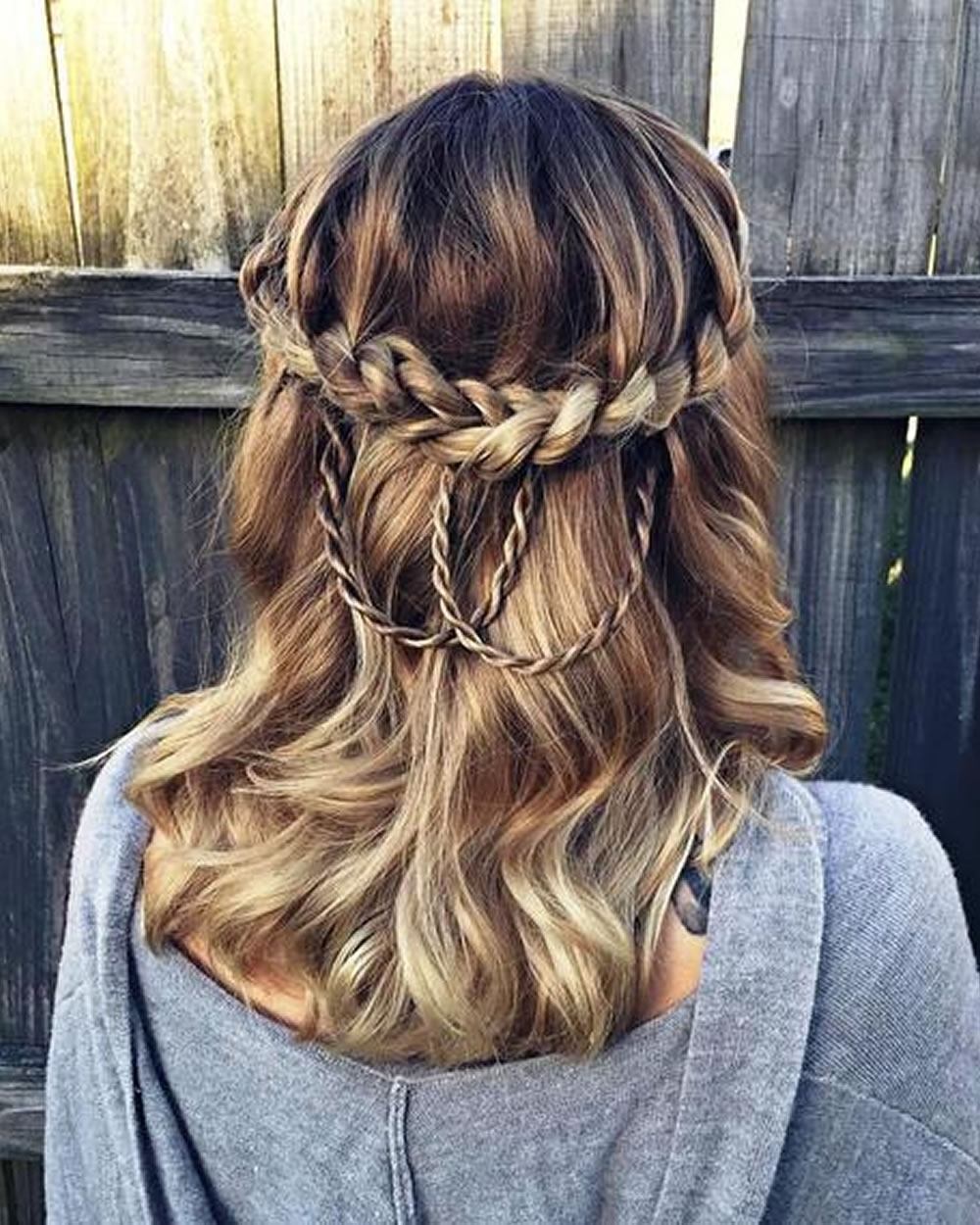 French Braid Half Up Half Down 2018 Inside Fashionable Half French Braid Ponytail Hairstyles (View 7 of 20)