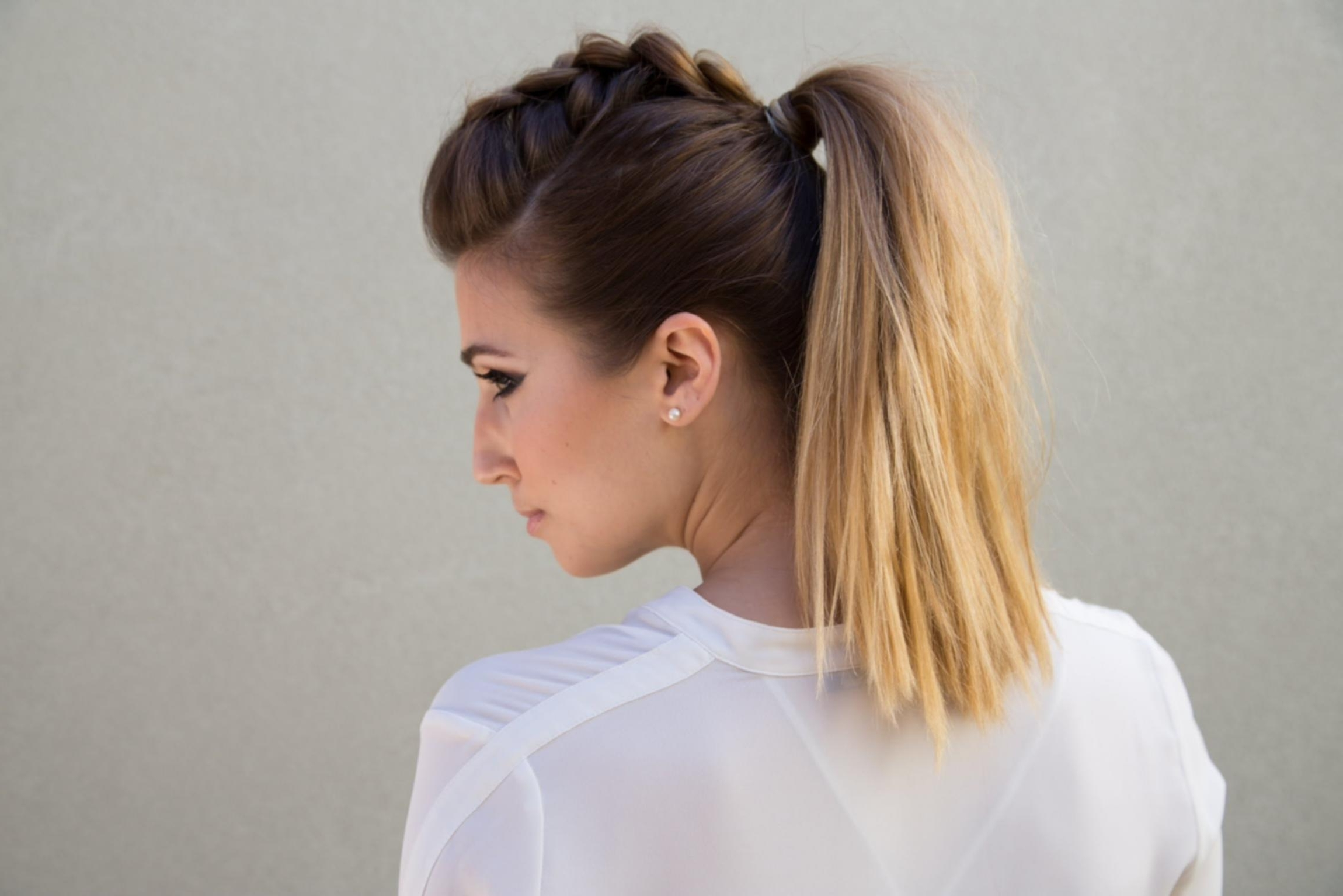 French Braid Into Low Ponytail Bouffant French Braid Ponytail Ideas Pertaining To Famous Bouffant And Braid Ponytail Hairstyles (View 11 of 20)