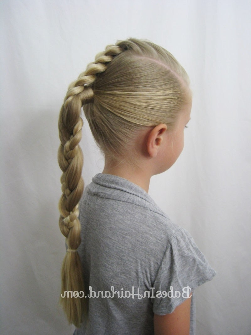French Braid To A Braided Ponytail Video – Babes In Hairland For Best And Newest Reverse French Braid Ponytail Hairstyles (View 4 of 20)