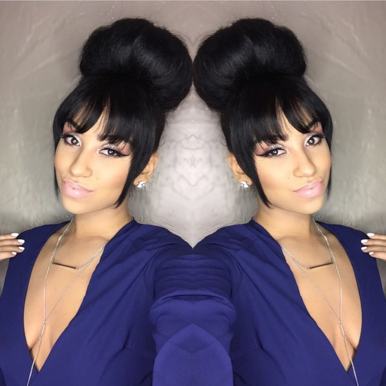 Fringes, Hair Style And Ponytail With Fashionable Low Black Ponytail Hairstyles With Bangs (View 18 of 20)