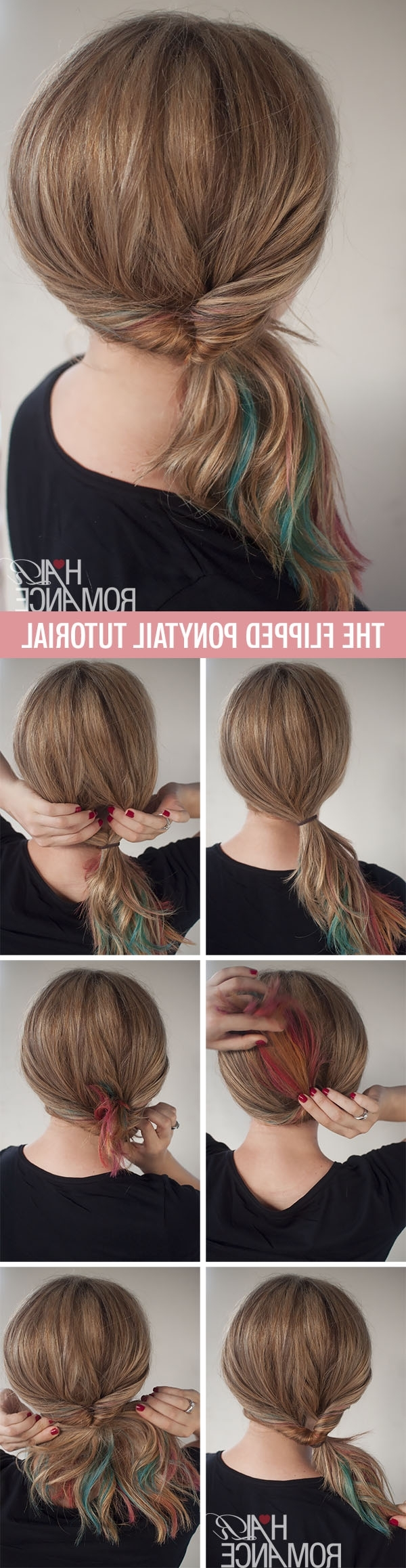 Get Cute Hair In Less Than 1 Minute – The Flipped Ponytail Hairstyle Intended For Newest Low Twisted Flip In Ponytail Hairstyles (View 10 of 20)