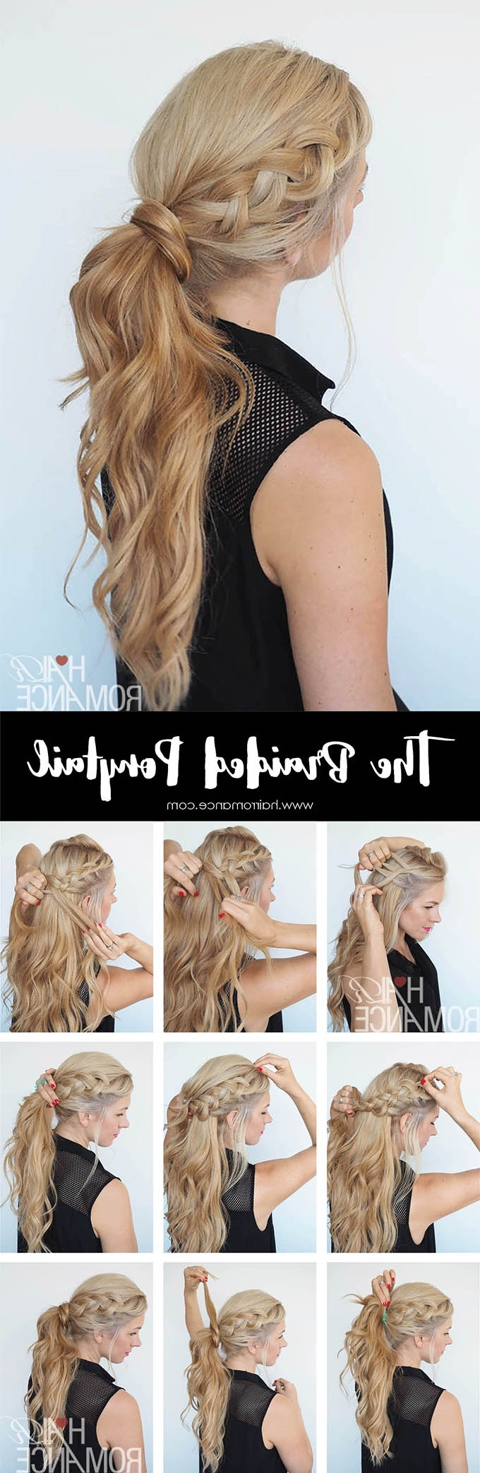 Get Out Of A Hair Rut – Braided Ponytail Hairstyle Tutorial – Hair In Well Known Messy Ponytail Hairstyles With Side Dutch Braid (Gallery 13 of 20)