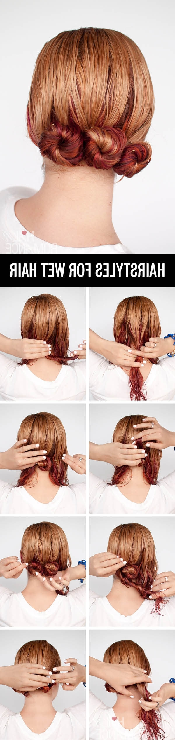 Get Ready Fast With 7 Easy Hairstyle Tutorials For Wet Hair – Hair Throughout Well Known Romantic Twisted Hairdo Hairstyles (View 11 of 20)