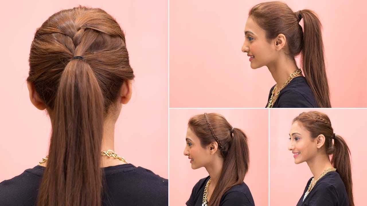 Girl Hairstyles Simple Sort 4 Easy Ponytail Hairstyles – Quick Easy For Best And Newest Glam Ponytail Hairstyles (View 9 of 20)