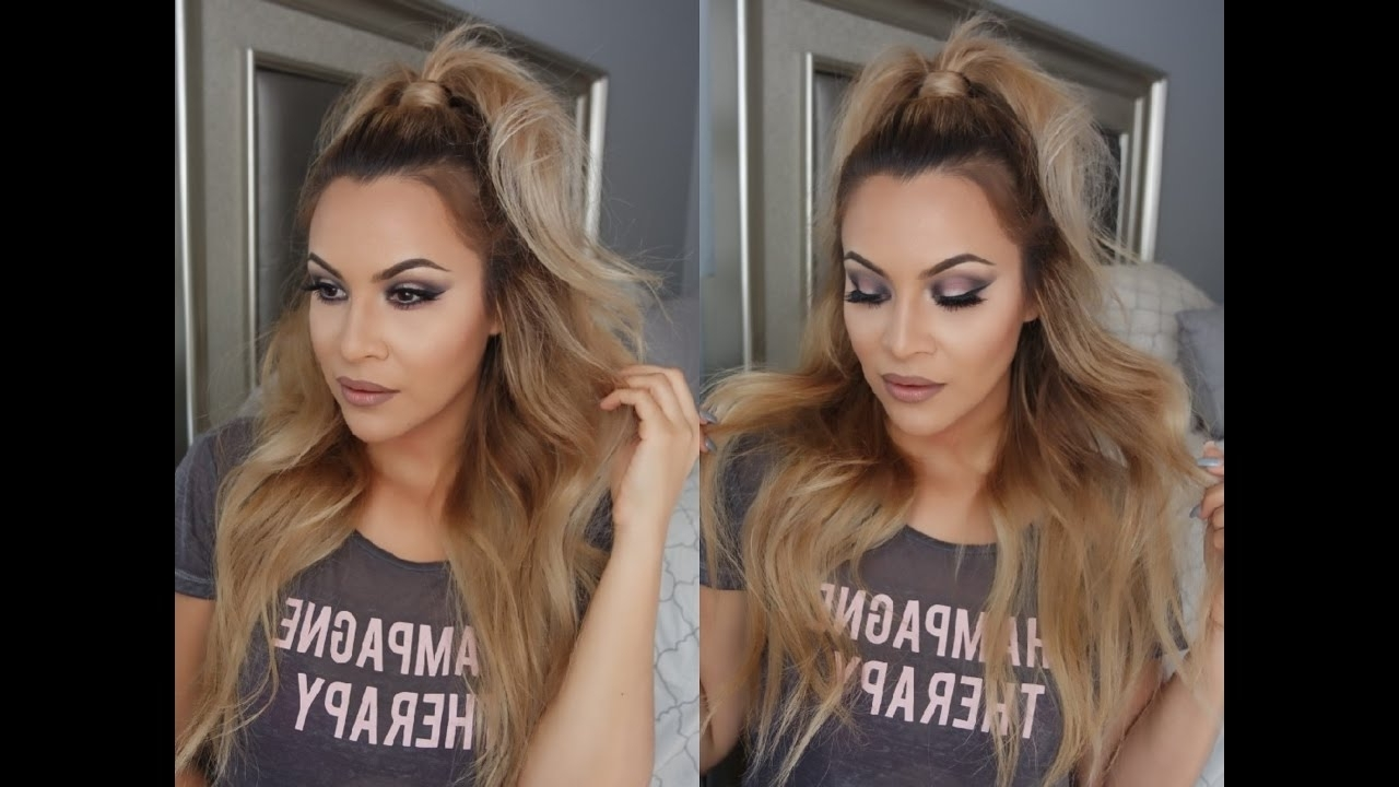 Glamgina – Youtube In Trendy Half Up Half Down Ponytail Hairstyles (View 9 of 20)