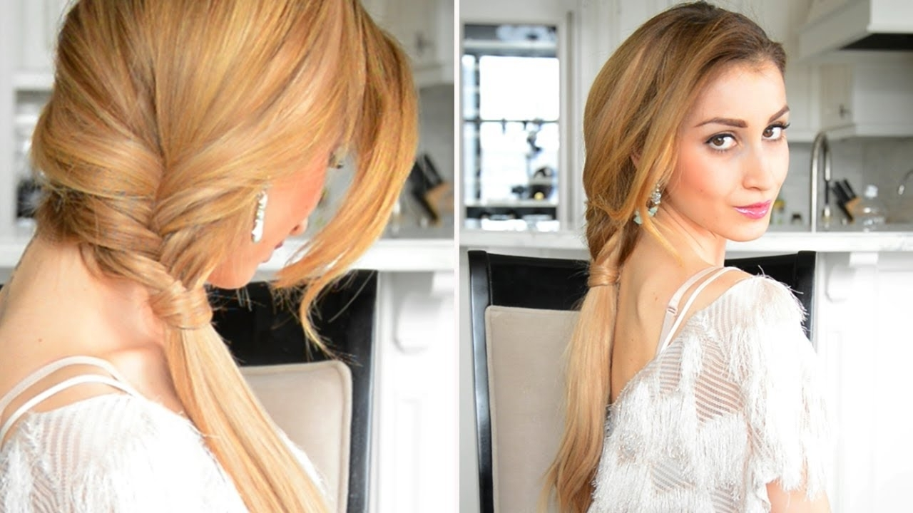 Glamorous Fishtail Braided Ponytail (Gallery 18 of 20)